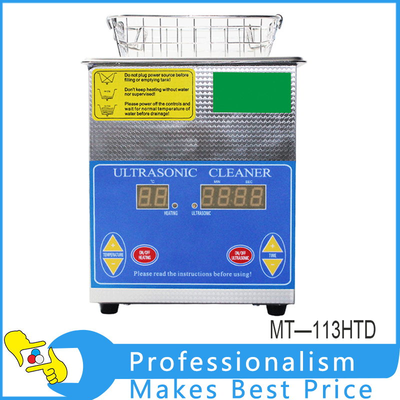 Single Power MT-113HTD Digital Ultrasonic Cleaner Bath For Electronic Components Jewelry Glasses Circuit Board Cleaning Machine digital 3 2l ultrasonic cleaner parts electronic dental instrument tanks glasses circuit board injectors 3l washer heater timer