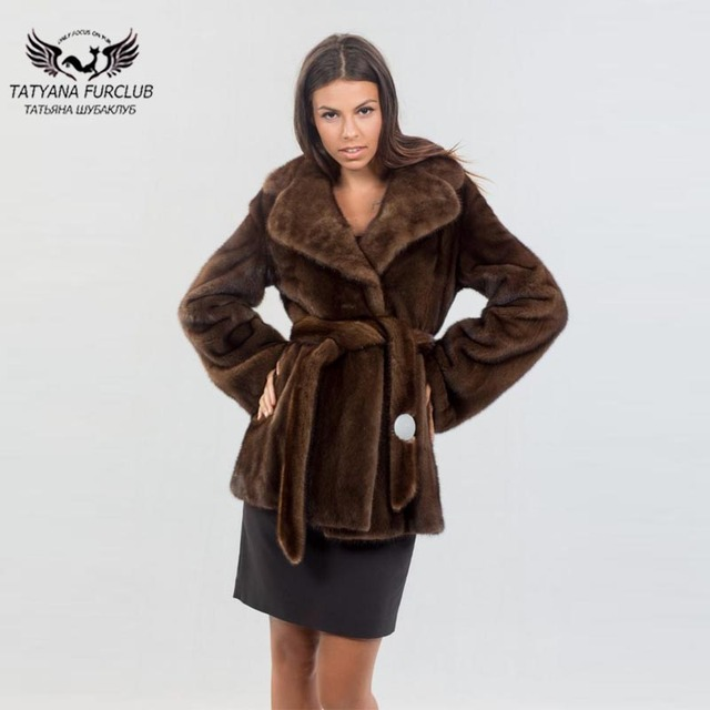 design de qualité 5d15c 87726 Manteau de fourrure vison véritable 2018 nouveau à venir femmes brun Long  Type mince manteaux mode Street wear hiver femme vestes Outwear