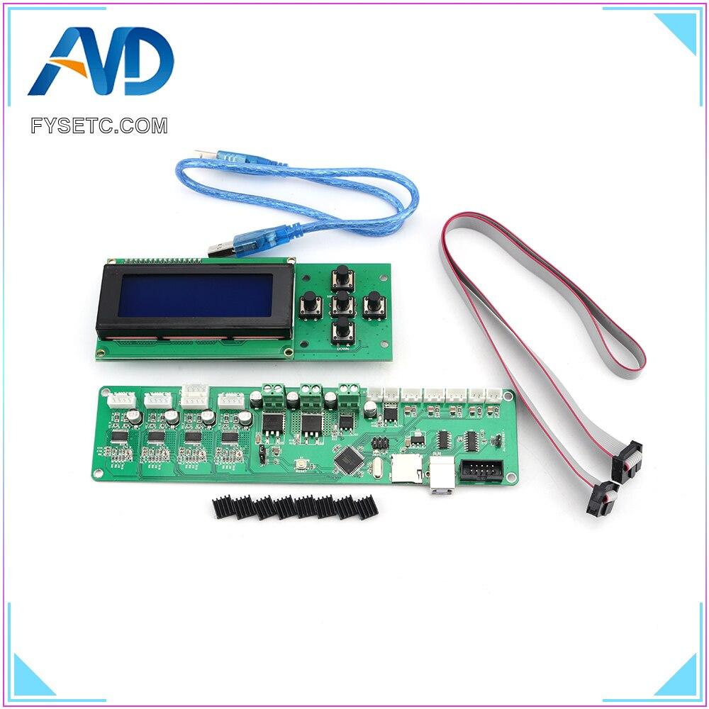 2004LCD + Melzi 2.0 1284 P 3D Imprimer PCB Conseil IC ATMEGA1284P Accessoires Pour Tronxy 3D Panneau de Commande De L'imprimante DIY kit Partie - 3