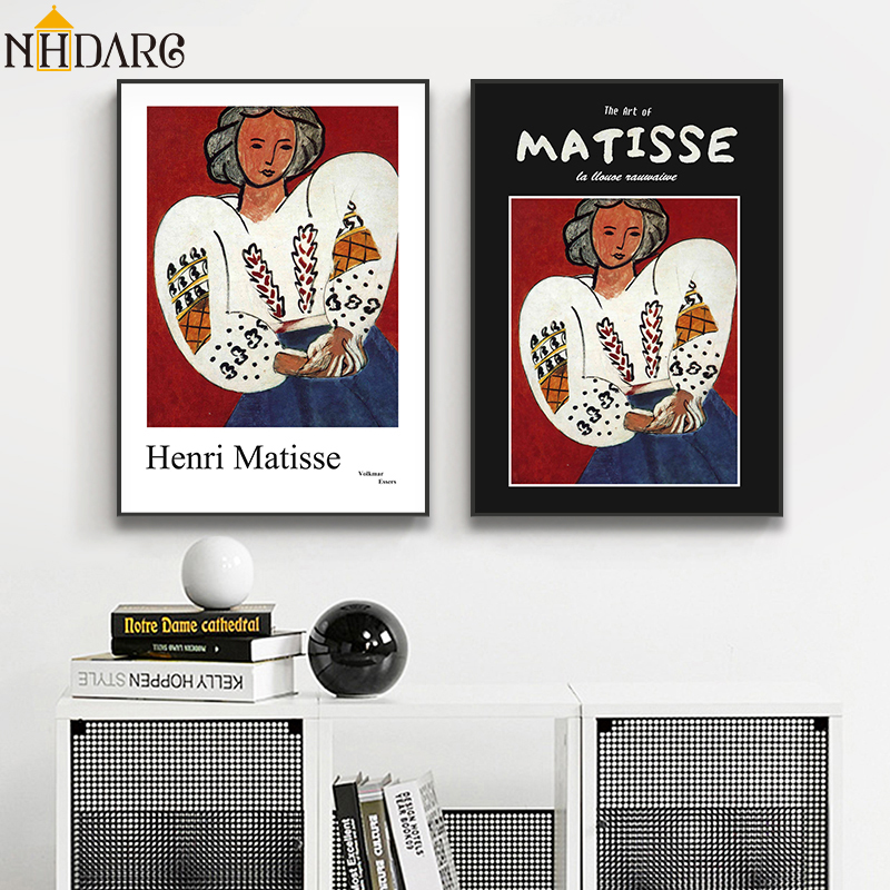 Henri Matisse Volkmar Essers Vogue Posters And Prints Girl Portrait Wall Art Canvas Painting Pictures For Living Room Home Decor