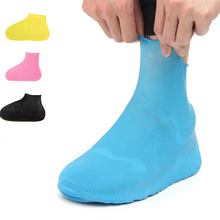 1 Pair Rubber Anti-slip Waterproof Shoe Cover, Reusable Rain Boot Motorcycle Bike Overshoe, Blue Yellow For Men Women