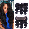 Brazilian body wave Lace Frontal Closure Full Lace Frontal Closure Virgin Hair  Lace Frontals With Baby Hair Ear To Ear Closure
