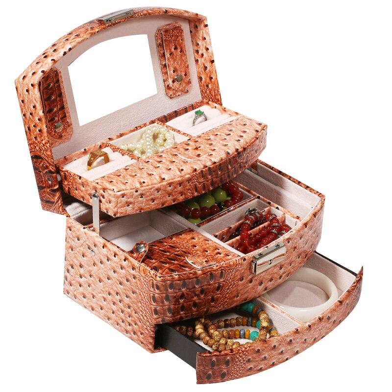 Modern Women Jewelry Organizer Earing Storage Box Portable ...