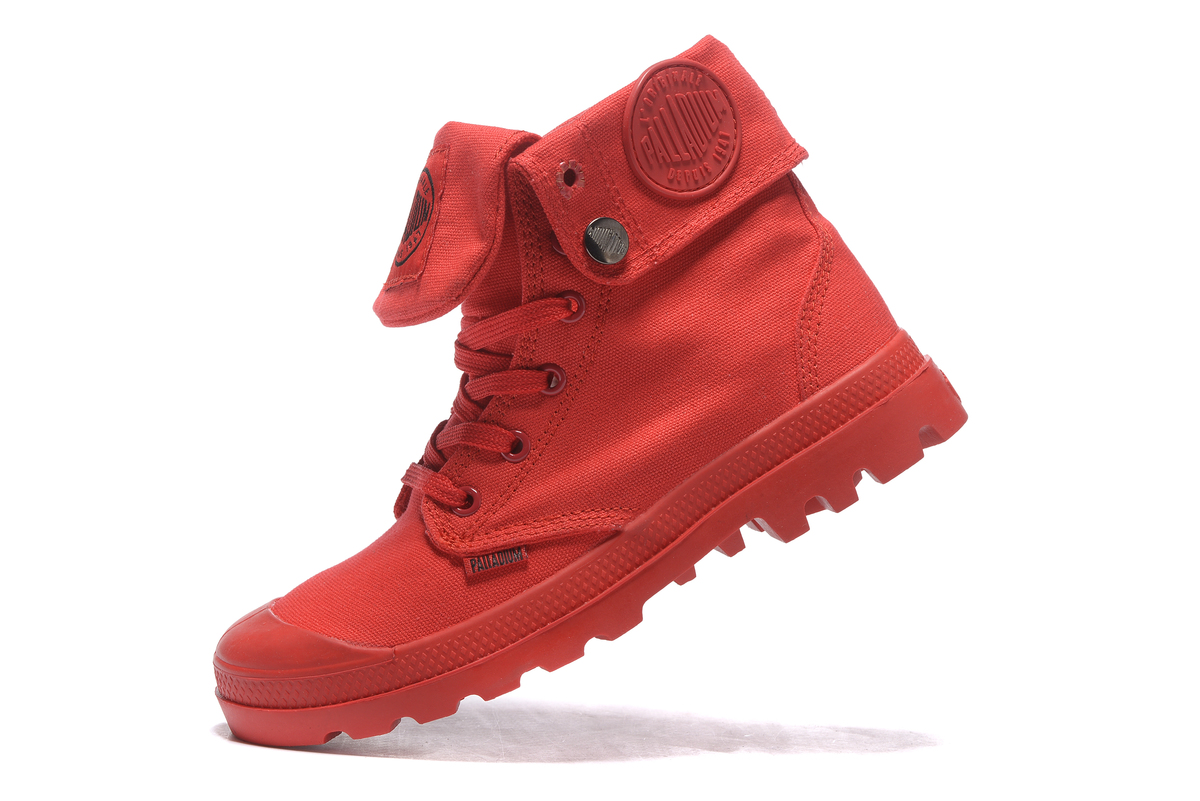 a2dee4b5e3f PALLADIUM Pallabrouse All Red Sneakers Men High top Military Ankle Boots  Canvas Casual Shoes Men Casual Shoes Size 39 45-in Men s Casual Shoes from  Shoes on ...