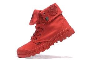 Image 5 - البلاديوم pallabrouse جميع الأحمر رياضة الرجال عالية أعلى الأحذية القماشية عارضة أحذية الكاحل العسكرية الرجال الاحذية حجم 39 45