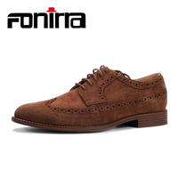 FONIRRA Men Formal Shoes Pointed Toe Flock Leather Oxford Shoes Casual Fashion Men Dress Business Shoes Plus Size 41 46 415
