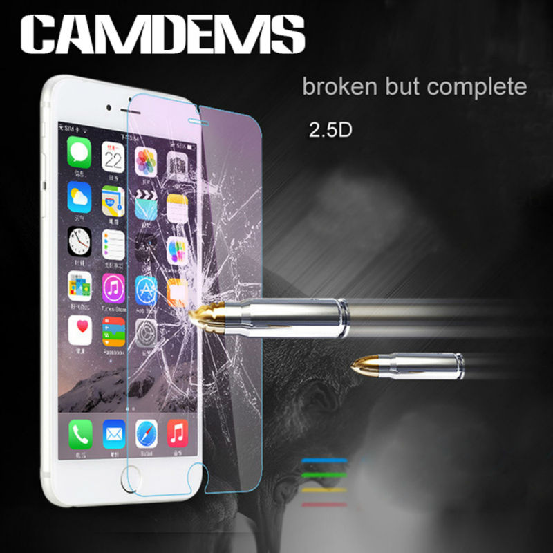 CAMDEMS 200pcs lot HD anti Explosion 2 5D 0 3mm Hardness Tempered Glass screen protector for