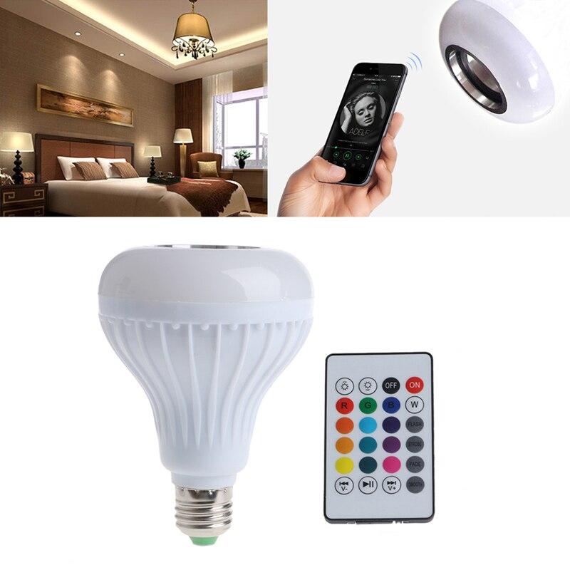 Wireless Bluetooth Speaker Bulb E27 LED RGB Light Music Playing Lamp AC 90-265V L15