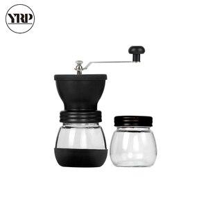 Image 5 - YRP Hand Keramik Grat Kaffee Bean Grinder mit Befestigten Glas Lagerung Jar Durable Cafe Bean Mühle Kaffee Maker Küche Werkzeuge