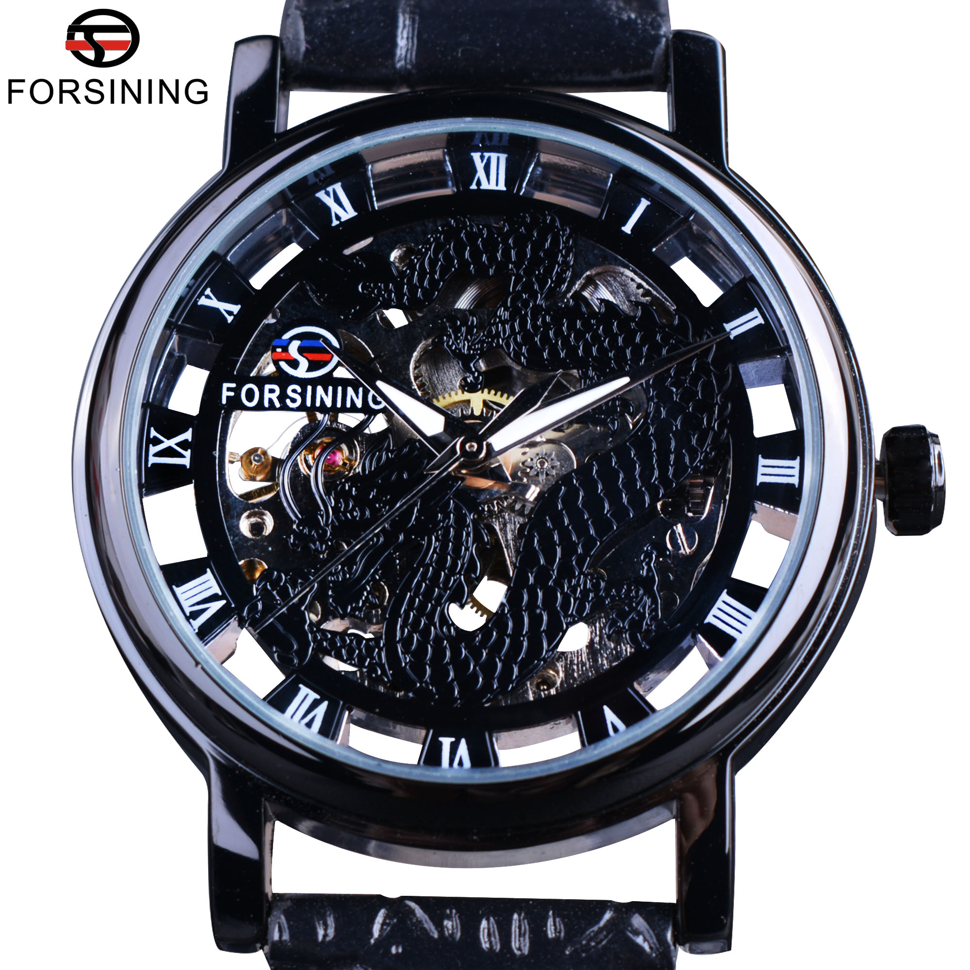 Forsining Chinese Simple Design Transparent Case Mens Watches Top Brand Luxury Skeleton Watch Sport Mechanical Watch Male Clock подвесной светильник arte lamp montana a9360sp 1ab