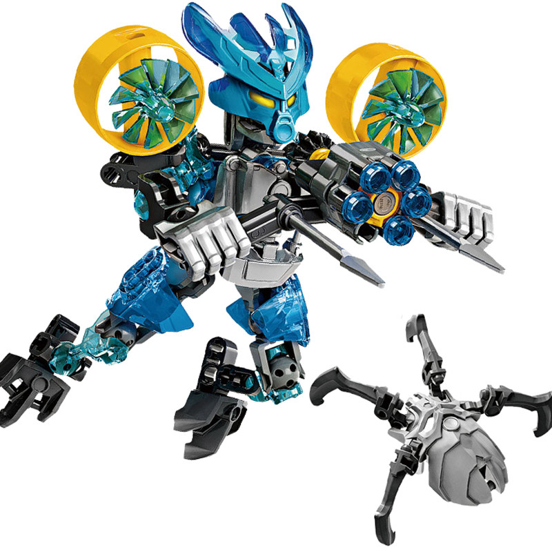 NEW-6-Stules-BIONICLE-Series-Jungle-Rock-Water-Earth-Ice-Fire-Protector-Action-figure-Building-Block