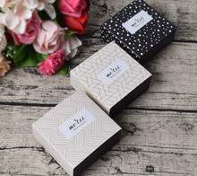 5 Pcs Gift Candy Box For Wedding Party Birthday Dots Lattice Small Drawer Paper Cake  Chocolate Packaging Cardboard