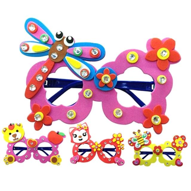 1set DIY Nontoxic Materia Craft Kit Creative Kindergarten Educational Toys Birthday Party Gift Cartoon Eva Foam