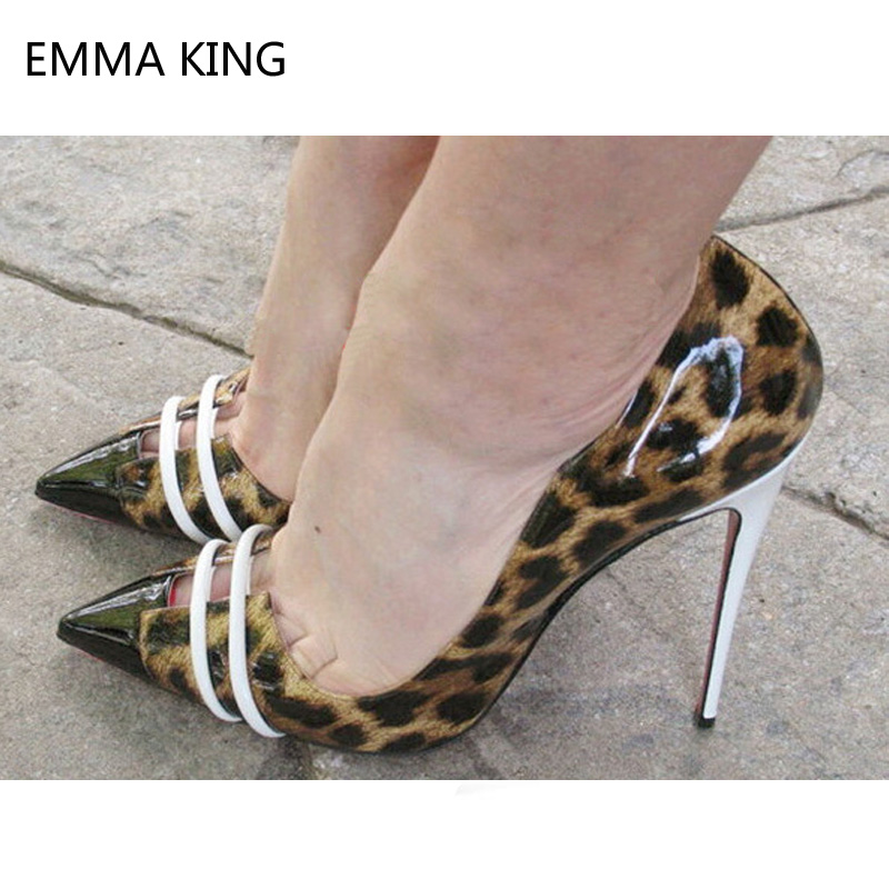 Dedo Leopardo as De Mujer Fiesta Sexy Bombas Picture Vestido Brillante Zapatos Tacones Gladiador Alto As Plata Baja Picture Estampado Tacón pq0wp84r