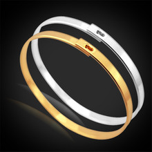Kpop Bangles Bracelets For Women/Men yellow Gold/Silver Color Fashion Jewelry High Quality Vogue Cuff Bracelet H950