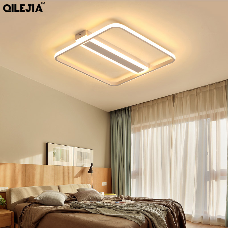 Rectangle Ceiling Lights Acrylic Modern led ceiling lamp for living room bedroom AC85 265V fixture Indoor