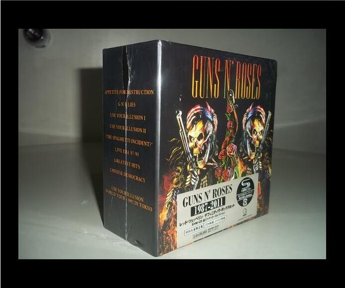 2018 Perfect Product Phase Free Shipping Guns N 'rose Rose Rock 9 Cd Set Box Full Collection Factory Sealed Limited Edition Se u2 complete edition 1976 2012 box 17cdbrand box free shipping