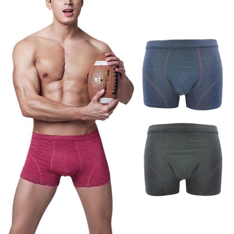 Cotton Casual Male Boxer Men's Short Brand Clothing Mens Underwear Masculina De Marca Underpants Solid Color Plus Size 3XL