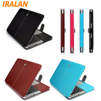 For Macbook Air 13 Air 13 3 Magnetic Holster Sotft PU Leather Bag Case For Macbook