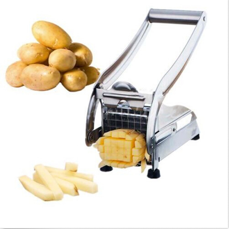 1 Pc Free Shipping Stainless Steel French Fries Potato Chips Strip Cutting Cutter Machine Maker Slicer Chopper Dicer + 2 Blades