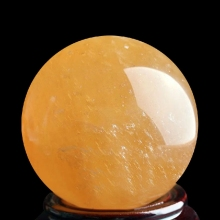 40mm Yellow Natural Stones Feng Shui Crystal Ball