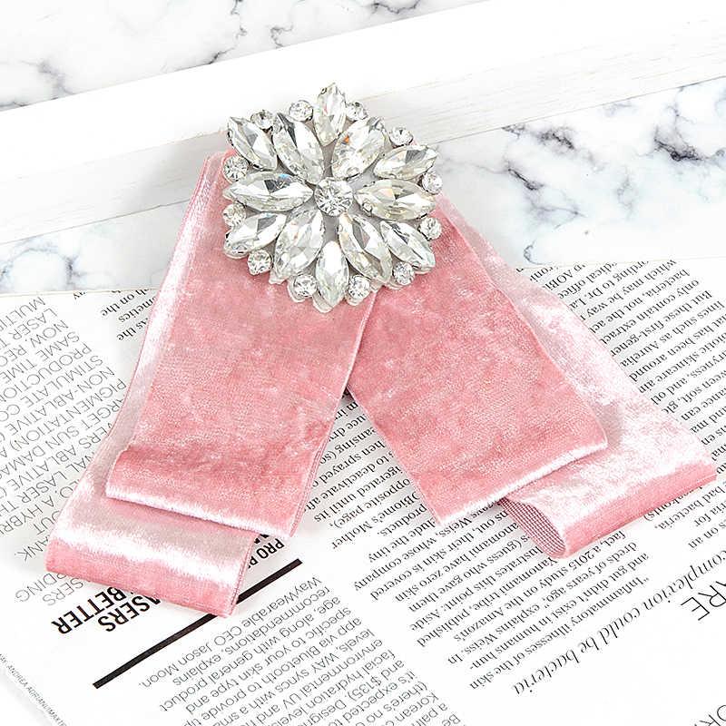 Zhini Merek Mewah Merah Muda Yang Indah Bentuk Bulat Dihiasi Bros Klip Lebih Tinggi Pin Kerah BoHo Pakaian Bros Pin Dasi Perhiasan Grosir