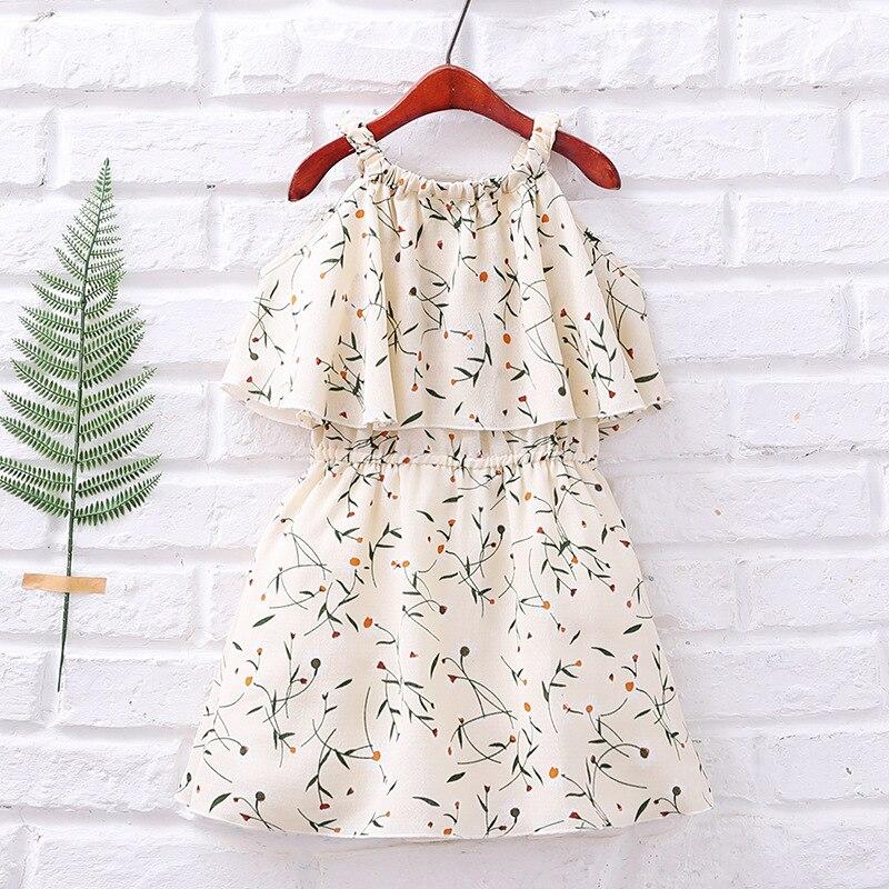 Baby Girls Dress Summer 2018 Fashion Children Clothing Kids Flower Dress Chiffon Princess Costume Vestidos 6 8 10 12 Years Old