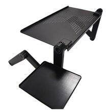 แบบพกพาปรับพับโต๊ะแล็ปท็อปโต๊ะคอมพิวเตอร์Mesa Paraโน้ตบุ๊คขาตั้งถาดสำหรับเตียงโซฟาสีดำ