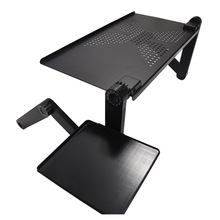 Portable foldable adjustable folding table for Laptop Desk Computer mesa para notebook Stand Tray For Sofa Bed Black fashion style folding laptop table stand desk portable bed sofa tray notebook computer desk lapdesk picnic table 58 35cm se22