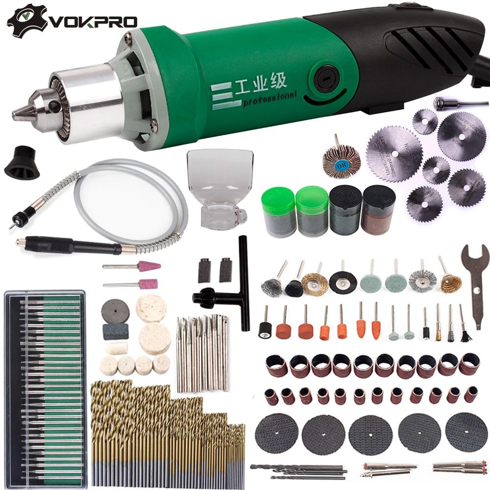 30000 t/mn 480 W perceuse électrique Mini graveur avec 6 vitesse Variable pour Dremel travail des métaux perceuse polissage 110 V/220 V