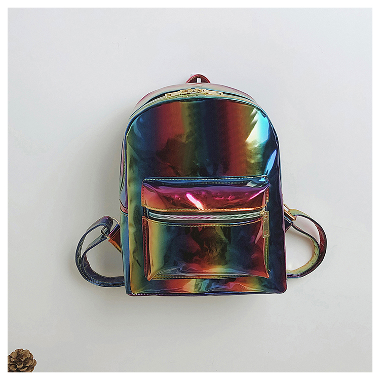 2018 Women Backpack Mini Travel Bags Silver Blue Pink Laser Backpack Women Girls Bag PU Leather Holographic Backpack School Bags цена 2017