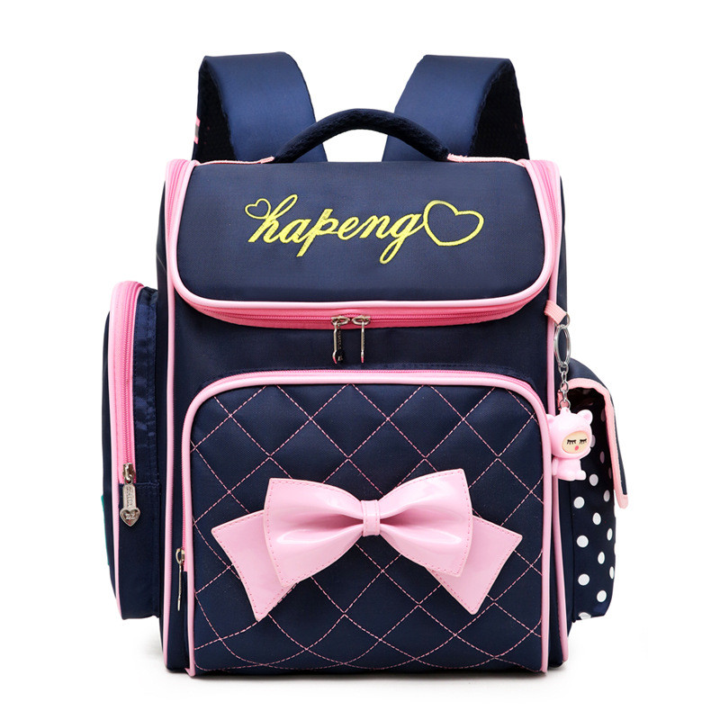 Lovely Princess School Bags Orthopedic Backpack For Girls Bow Ties Printing School Bags For Children Travel Bags Mochila Escolar