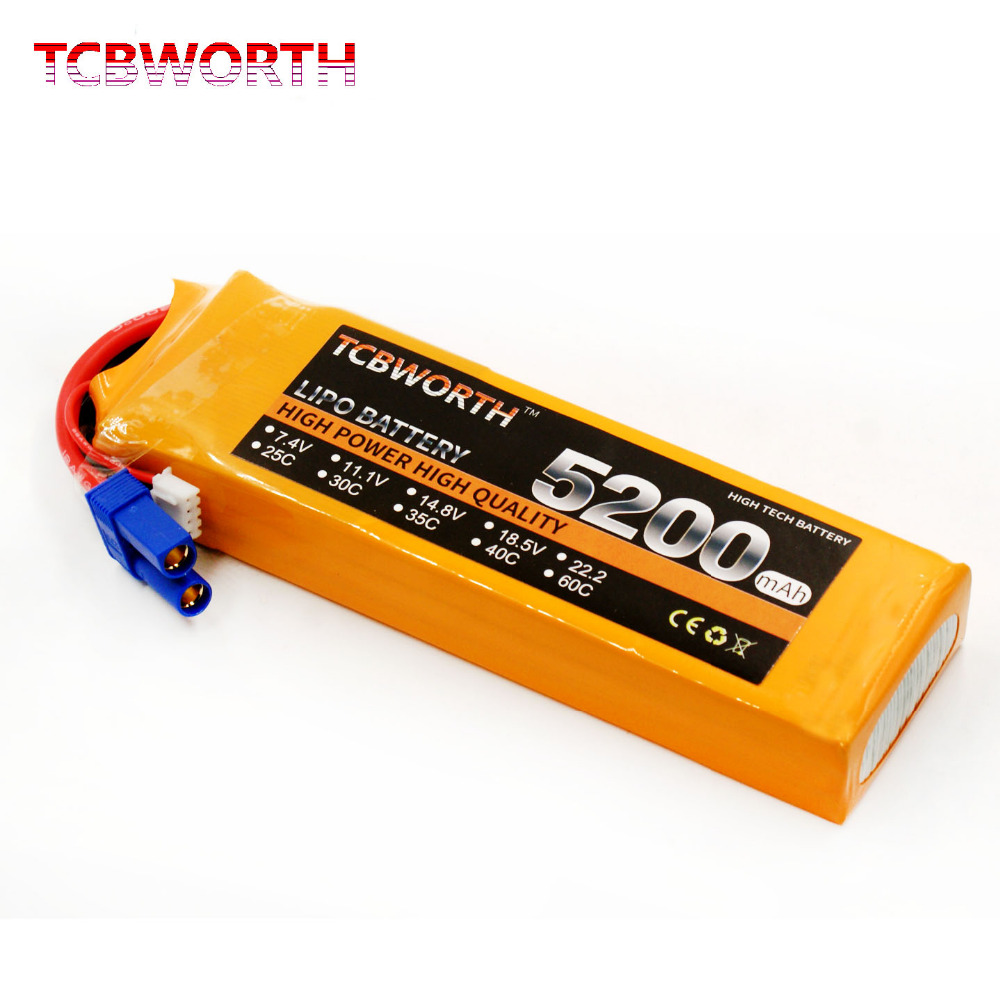 TCBWORTH 2S RC LiPo battery 7.4V 5200mAh 30C For RC Airplane Quadrotor AKKU Drone Li-ion battery 1s 2s 3s 4s 5s 6s 7s 8s lipo battery balance connector for rc model battery esc