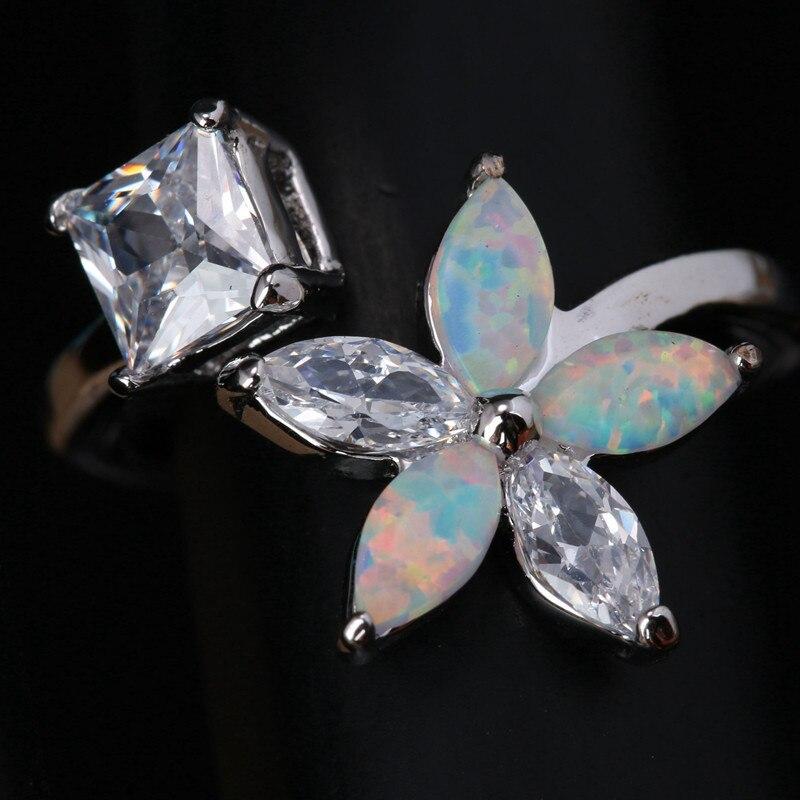 Argent Sterling 925 formation de glace Clip Rose Clair Zircone Cubique Fit European Bracelet