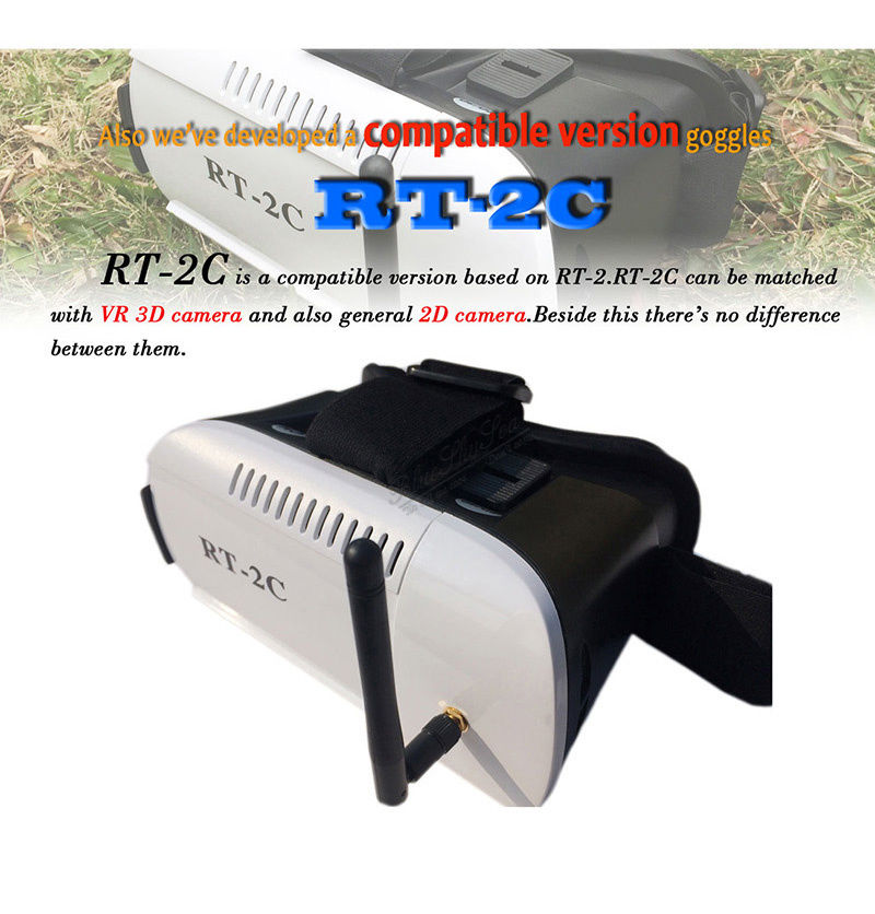 Free Shipping RT2C 5 8G Real Time Wireless 2 3D 32ch Virtual Reality VR Video FPV