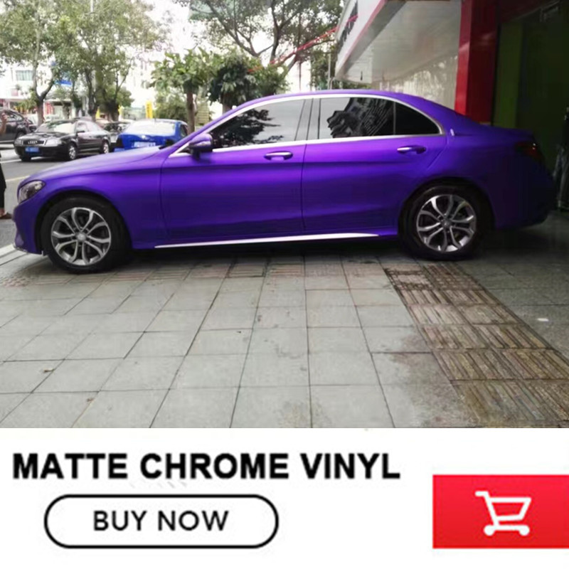 make small profits But quick turnove Car-styling Matte Chrome Ice Vinyl Film Purple Matte Chrome Vinyl Wrap Auto film diy small car cleaning sets film sticking tool squeegees scrapers sunvisor film sticking tool