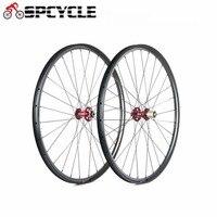 Spcycle 29er довод углерода MTB Колеса 29 XC или AM/DH углерода горный велосипед колесной спереди 15 мм сзади 12 мм через ось колеса