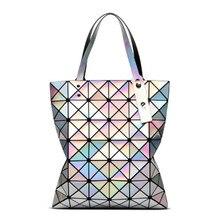 цены New Women HandBags Ladies Geometry Package Mirror Plain Folding Shoulder Bag Ladies Handbag Geometric folding package