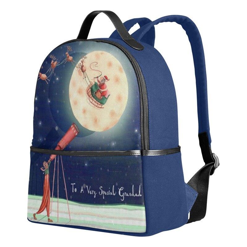 2018 new fashion christmas backpack for men  u0026 women cute deer cartoon pattern multi pocket