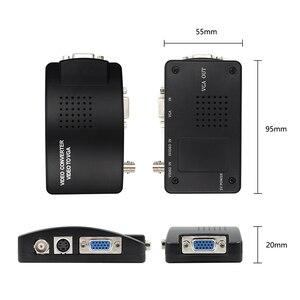 Image 3 - BNC vga ビデオコンバータ S ビデオ入力に PC の VGA 出力アダプタデジタルスイッチャー Pc のテレビカメラ DVD DVR