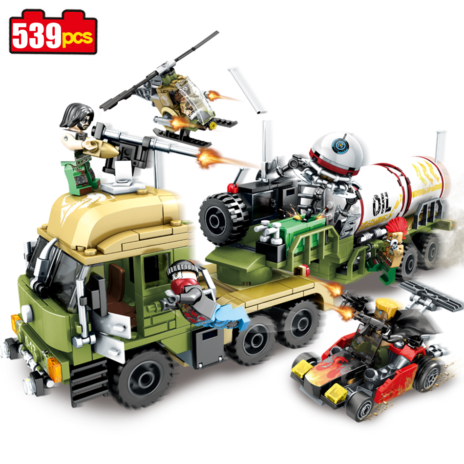 Sembo block 539pcs Military series oil Tanker building blocks Compatible Legoed Helicopter weapon enlighten bricks children toys enlighten building blocks navy frigate ship assembling building blocks military series blocks girls