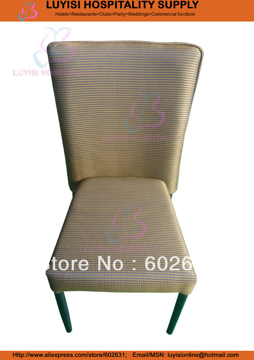 Metal Upholstered Hotel Dining Chair  LUYISI990