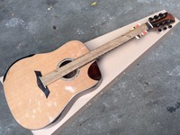 Solid cedro guitarra acústica com ângulo radiano design profissional