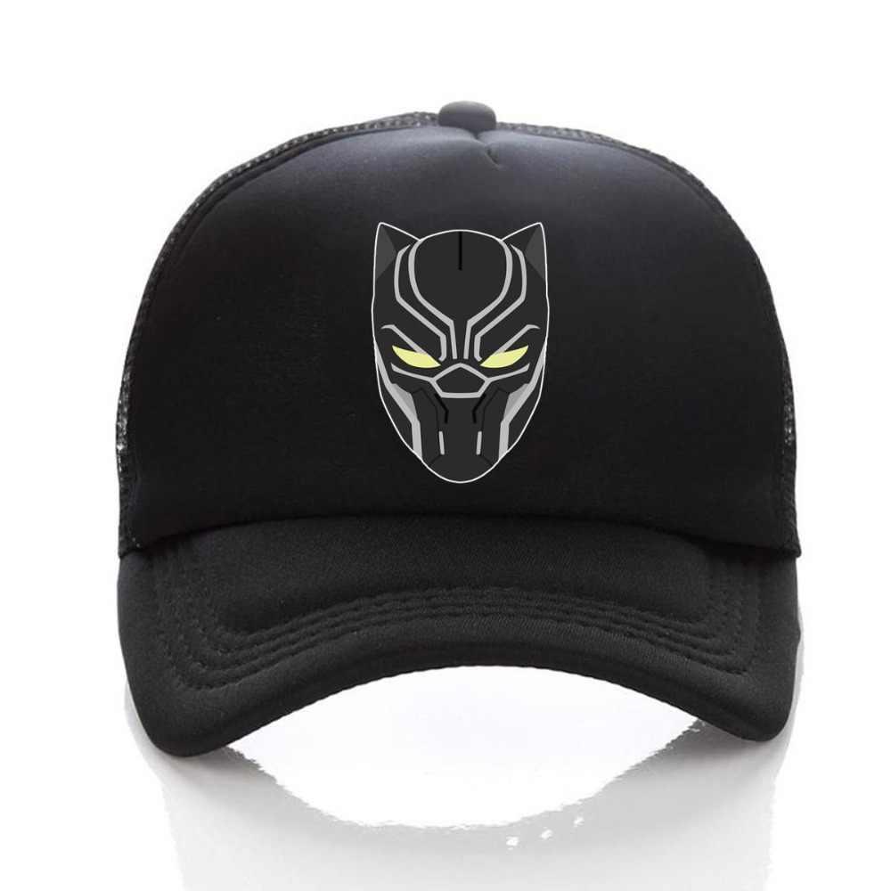 67411867983 ... Super Hero Black Panther Caps Hat Men Women Trucker Cap Cool Summer Caps  Adjustable Baseball Mesh ...