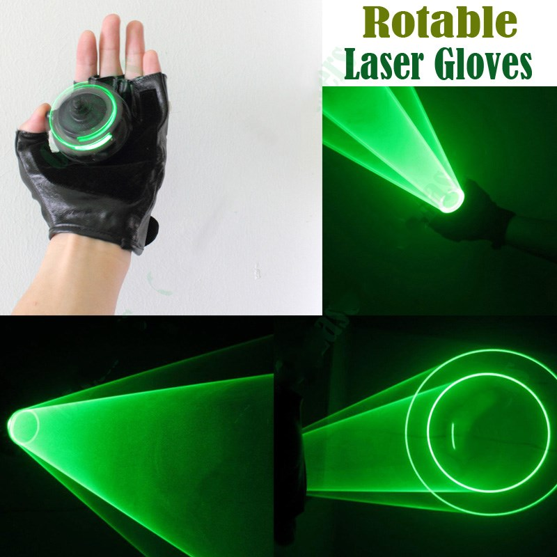 Event Party Supplies 2pcs/lot Lasers auto rotating green laser Cool swirling whirlpool laser glove show light vortex laser