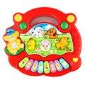 Modern popular baby kid animal da fazenda piano toy developmental toys para crianças dos miúdos do bebê transporte da gota h26