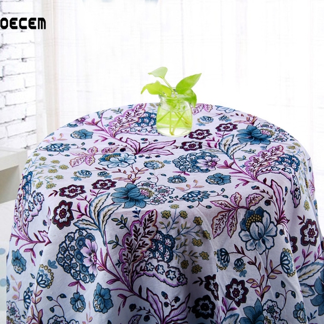 Floral Imprimé Naturel Coton Lin Tissu Mètre Tela Patchwork Pur Lin ...