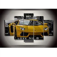 diy diamond painting yellow sport Car picture Painting wall art living room decor Free shipping