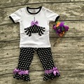 girls clothing halloween boutique outfits girls Halloween spider clothes children winter polka dot pant with matching hairbows