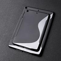 case ipad SLINE TPU Case For Apple Ipad Air 2 Case Black Silicon Soft Protection Cover For iPad air 2 iPad 6 iPAD6 Soft Tablet Bumper Bag (2)